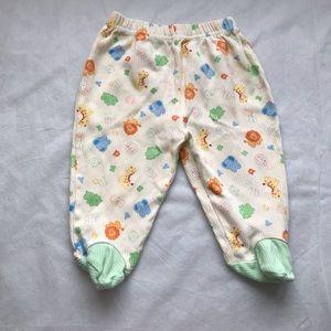 5/$25 BABY'S OWN gender neutral footie pants